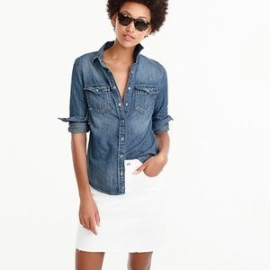 J. Crew Western chambray button down